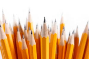 a bunch of number 2 yellow pencils
