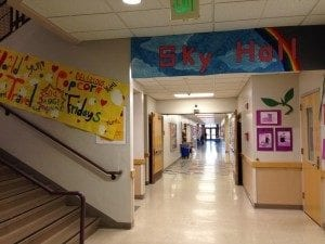 Sky hall - home of the youngest Pathfinder students.